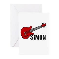 Guitar - Simon Greeting Cards (Pk of 10)