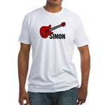 Guitar - Simon Fitted T-Shirt