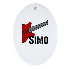Guitar - Simon Oval Ornament