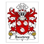 Bawdrep Family Crest Small Poster