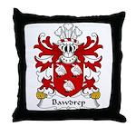 Bawdrep Family Crest Throw Pillow