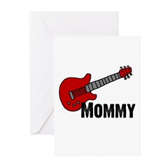 Guitar - Mommy Greeting Cards (Pk of 10)