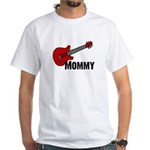 Guitar - Mommy White T-Shirt