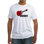 Guitar - Mommy Fitted T-Shirt