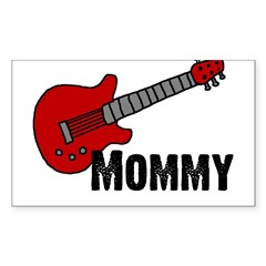 Guitar - Mommy Rectangle Decal