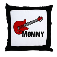 Guitar - Mommy Throw Pillow
