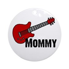 Guitar - Mommy Ornament (Round)