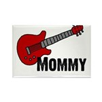 Guitar - Mommy Rectangle Magnet