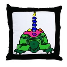 "TURTLE BIRTHDAY ""CAKE"" Throw Pillow"