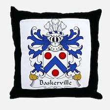Baskerville Family Crest Throw Pillow