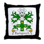 Basingwerk Family Crest Throw Pillow