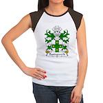 Basingwerk Family Crest Women's Cap Sleeve T-Shirt