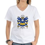 Barton Family Crest Women's V-Neck T-Shirt