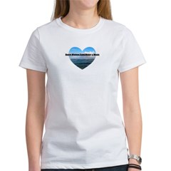 booze,WOMEN,sand,water & music Women's T-Shirt