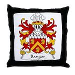 Bangor Family Crest Throw Pillow