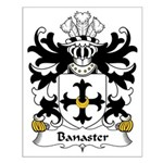 Banaster Family Crest Small Poster