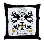 Banaster Family Crest Throw Pillow