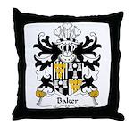Baker Family Crest Throw Pillow