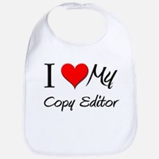 I Heart My Copy Editor Bib