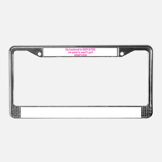 Drafted License Plate Frame