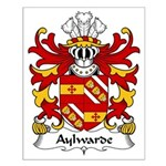 Aylwarde Family Crest Small Poster