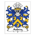 Aubrey Family Crest Small Poster