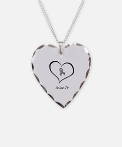Funny Allergies Necklace Heart Charm