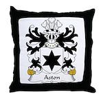 Aston Family Crest Throw Pillow
