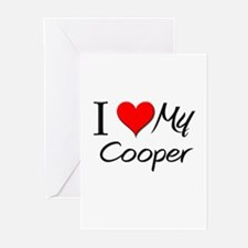I Heart My Cooper Greeting Cards (Pk of 10)