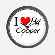 I Heart My Cooper Wall Clock