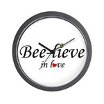 BEE-LIEVE IN LOVE Wall Clock