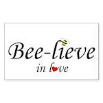 BEE-LIEVE IN LOVE Rectangle Sticker