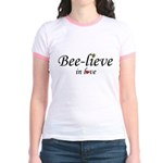 BEE-LIEVE IN LOVE Jr. Ringer T-Shirt