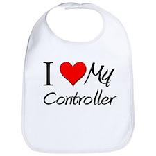 I Heart My Controller Bib