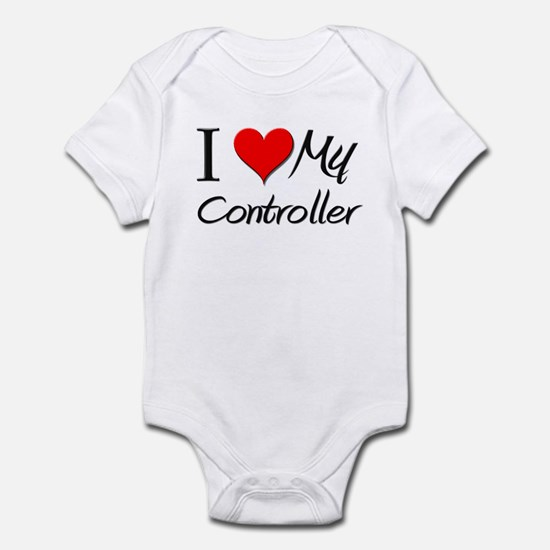 I Heart My Controller Infant Bodysuit