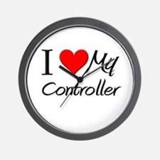 I Heart My Controller Wall Clock