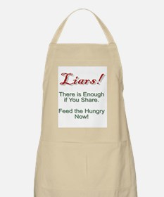 Liars There is Enough Food. BBQ Apron