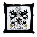 Ameredith Family Crest Throw Pillow