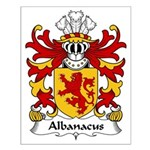 Albanacus Family Crest Small Poster