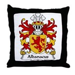 Albanacus Family Crest Throw Pillow