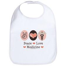 Peace Love Medicine Caduceus Bib