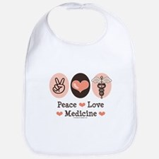 Peace Love Medicine Caduceus Bib
