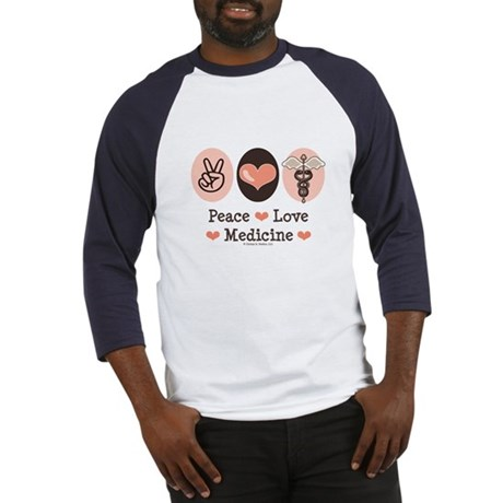 Peace Love Medicine Caduceus Baseball Jersey