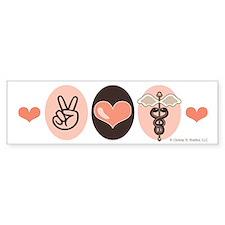 Peace Love Medicine Caduceus Bumper Bumper Sticker