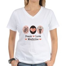 Peace Love Medicine Caduceus Shirt