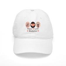 Peace Love Medicine Caduceus Baseball Cap