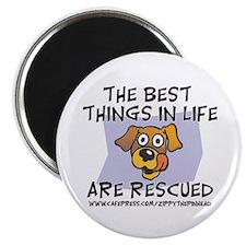 "Rescued 2.25"" Magnet (100 pack)"