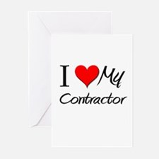 I Heart My Contractor Greeting Cards (Pk of 10)