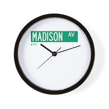 Madison Avenue in NY Wall Clock