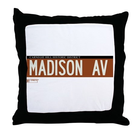 Madison Avenue in NY Throw Pillow